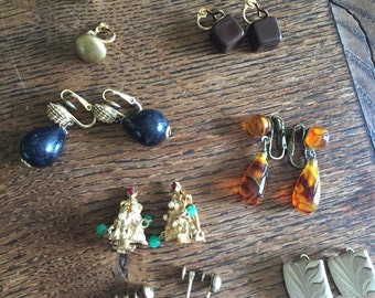Clip on earrings grouping