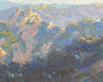 "Contemporary Plein Air Painting ""View from Cheney Trail"" Topanga, California"