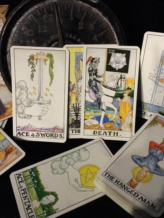 Vintage Tarot Universal Waite 1990 Tarot Cards Full Deck And