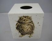 Wild Owls Tissue Box Cover wooden handmade