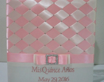 Personalized Photo Album, Quinceañera, Sweet 16 Photo Album, Wedding Photo Album, Swarovski Crystals, 300 4x6 Photos - Custom Order