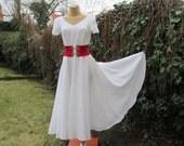 Circle Dress Vintage / White / Size EUR38 / 40 / UK10 /12