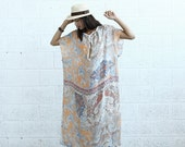 Valentines day Paisley Kaftan Dress - Silk