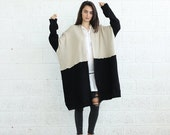 Color block Poncho-oversize sweater-winter sweater.