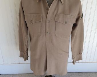 Vintage Military button down shirt