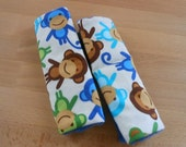 Royal Monkeys Infant/Toddler Reversible Car Seat Strap Covers (1 only, as pictured)