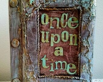 Enchanted Wedding Album, Once Upon A time, Enchanted Album, Fairytale Album, Handmade Book, Personalized Book, Disney, Custom Made, Wedding