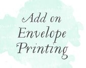 Envelope printing (Set of 25) | Guest addressing, reply card envelope printing, add on