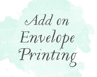 Envelope printing (Set of 25)   Guest addressing, reply card envelope printing, add on
