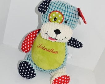 Coloured Puppy Stuffie Personalized Embroidered