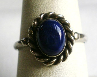 Sterling Silver Purple Stone Ring-Size 6 3/4