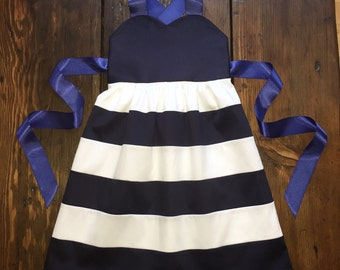 Navy and white dress - Striped Toddler dress - Navy - white - Special occasion outfit - Toddler wedding outfit - chic girls dress