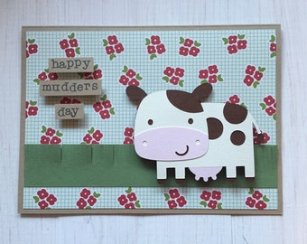 Happy Mudders Day Mothers Day Cow Card