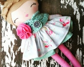 "Custom Order 17"" Tessa Doll,  SpunCandy Doll, Handmade Doll, Cloth Doll, Nursery Decor, LollyPoppet, Customizable Doll, Fabric Doll"