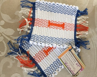 Set of 2 Mug Rugs for the Illini Fan!
