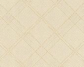 Carkai Grid Diamond in Bone Metallic, Carolyn Friedlander, Robert Kaufman Fabrics, 100% Cotton Fabric, AFRM-15793-284 BONE