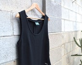 Vintage Geiger Boiled Wool Dress, Austrian, Little Black Dress, Winter Dress, Wool Dress, Black Long Dress, Ski Bunny Dress