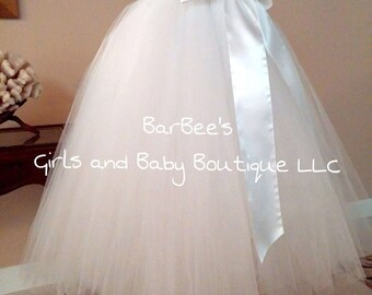 Adult Tutu Extra Fluffy Tulle Skirt,  Wedding tulle skirt, Bridal tutu skirt