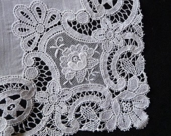 Lovely embroidery  hankie hanky wedding bridal