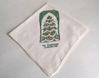 Handkerchief Hanky Hankie Vintage Hankys Hankies Antique Handkerchief Hankerchief Embroidered The Traditional Sterling Tree Christmas Hanky