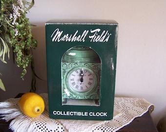 Marshall Fields 150 Year Commemorative Tiffany Clock Lamp-NEW w/Box,Chicago RARE