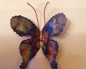 Large Copper Butterfly Burnt with Color