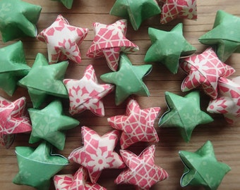 Christmas Mix, Origami Stars, set of 24.