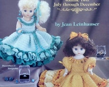 """20%OFF American School Of Needlework 13"""" BIRTHSTONE DOLLS Volume Two July - December - Crochet Doll Clothes Clothing Patterns"""