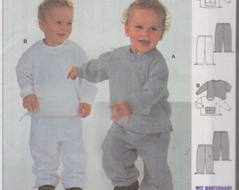 Infant's/Toddler's/Boys' Sewing Pattern Pants and Top Shirt Size 6M-3T Burda 9957