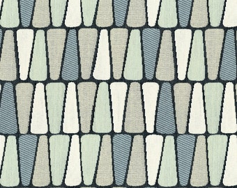 Scaled Geometric Upholstery Fabric - Refreshing Print for Transitional to Modern Decor. Color: Terrazzo Robins Egg - Per Yard