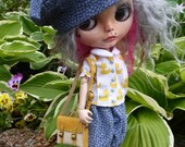 Blythe Ducky Blouse, Pants & Beret Outfit   (BD13516)