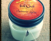 Cinnamon, Orange, Clove Scented Soy Wax Candle - 8oz Jar Scented Candle