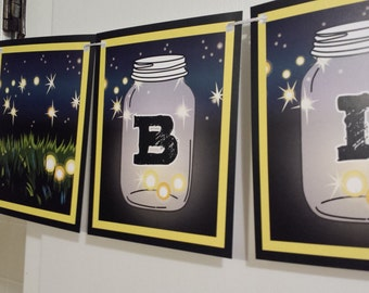 LAKE PARTY Banner - fireflies