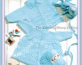 Instant Download - PDF Crochet Pattern for a Babies Matinee Coat & Cardigan - Instant Download