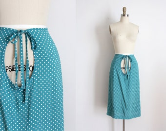 CLEARANCE RARE vintage 1930s skirt // 30s 40s maternity rayon skirt