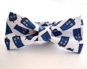 Mens Bowtie, Tardis Bow Tie, Dr Who Bow Tie, Police Box