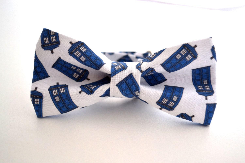 mens bowtie tardis bow tie dr who bow tie box