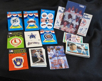Vintage Baseball Cards, Stickers, and Schedules 1980's Fleer, Topps, Score