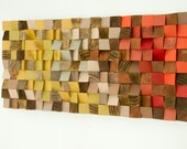 "Reclaimed Wood Art, wood wall art industrial decor, ""Fire sparks"""