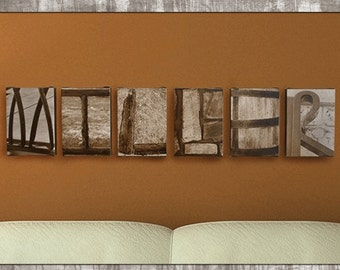 Wedding Gift for Couples // Last Name Wedding Gift // Alphabet Photography on Canvas // Gift for Wife // Last Name Sign