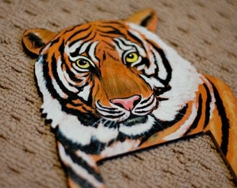 Hand Painted Tiger Lightswitch Cover