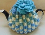 Hand Knitted Retro Tea Cosy 6 cup tea pot