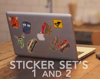 Stickers Art Stickers Animal Set and Geekery Set Tom Ryan's Studio