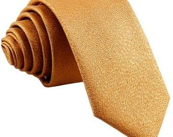 "Men's Glitter Gold 2.5"" Necktie, for Formal Occasions"