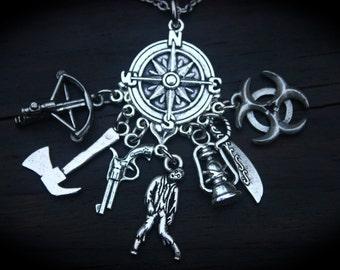 Zombie Survival Charm Necklace - Post Apocalypse - Themed Jewellery - Dead - Gothic - Fantasy - Horror - Zombie Jewelry - Halloween - Fandom