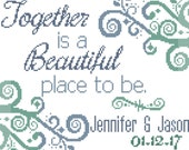 Wedding Cross Stitch Pattern - Together is a Beautiful Place to Be