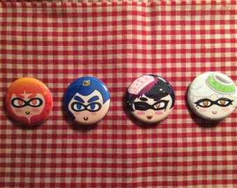 Splatoon Button Set