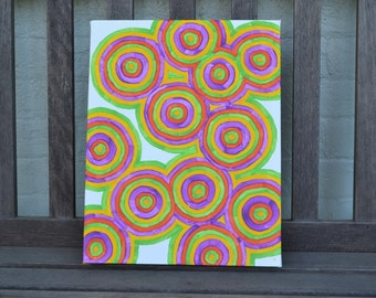"Original Painting - 11"" x 14"" Gallery Wrapped Canvas - Autism Awareness - Ready to hang!"