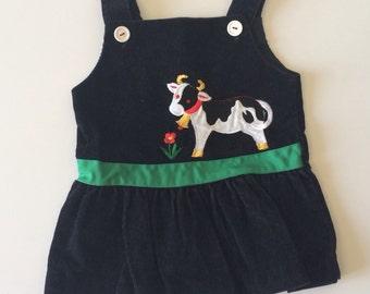 Vintage Corduroy Farm Dress (2t)