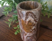 Brown Marble Slag Vase